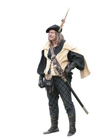 elizabethan: Highland chieftan at a Scottish renaissance faire in CA