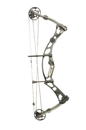 modern, compound hunting bow isolated on white Banco de Imagens