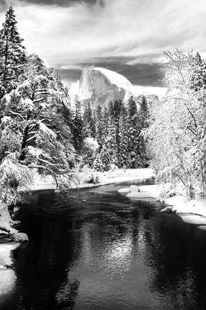 Yosemite valley in California during winter photo