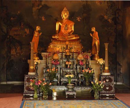 glorification: shrine inside of a buddist temple