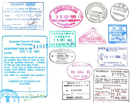 Passport stamps and visas photo