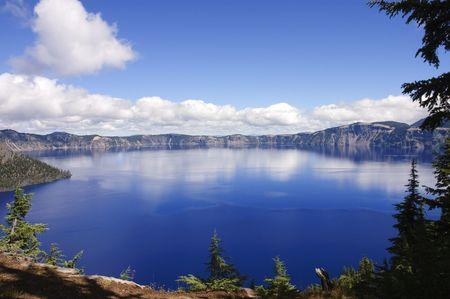 Veiw of Crater lake, an extinct volcanic caldera