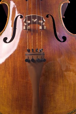 beautiful cello over a black background