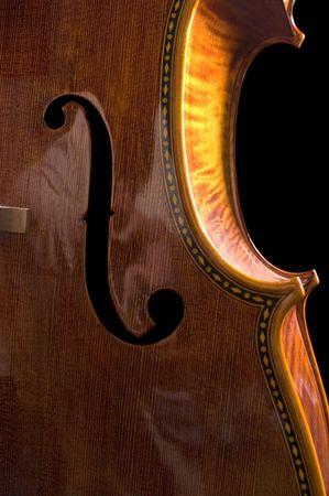 beautiful cello over a black background photo