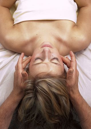 deeptissue: young woman getting Massage Therepy from a massuer