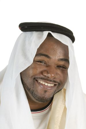 African arabic man in traditional headress