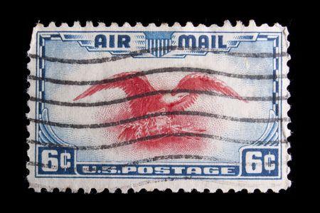 미국 -1938 년경 : 카마인, 글에서 독수리를 묘사 한 1938 년경