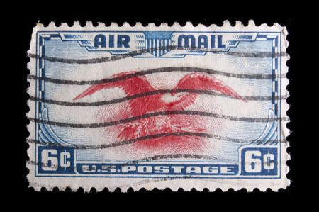 UNITED STATES - CIRCA 1938 : depicting Eagle in Carmine, inscripttion  Stok Fotoğraf