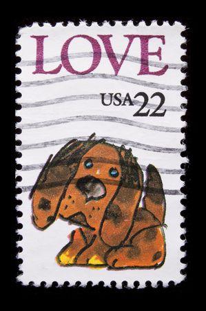 UNITED STATES - CIRCA 1986 :depicting cartoon dog character, inscription  Фото со стока