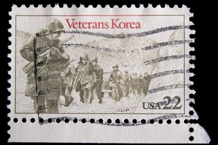 advancing: UNITED STATES - CIRCA 1985 : depicting footsoldiers advancing, inscription  Stock Photo