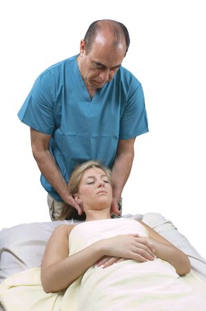 young woman getting Massage Therepy from a massuer Stock Photo - 6928425