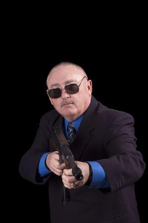 fbi: Agent gangster ou de gouvernement, agent du FBI, sur un fond noir