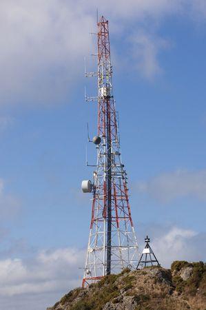 Communication tower atop Mt. Elizabeth in Wellington, New Zealand Imagens - 6929078
