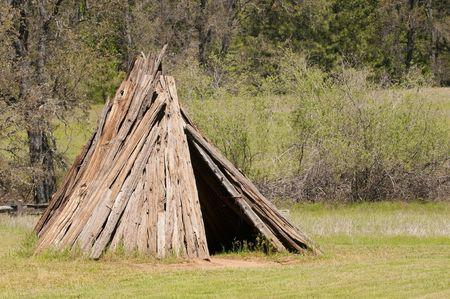 Native american Miwok indian village Stock Photo - 7087119