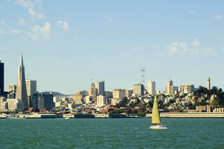 cityscape of San Francisco from the Bay