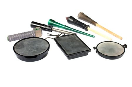 collection of slate calls, devices for simulating female turkey sounds and thereby attracting the male turkey to the hunter