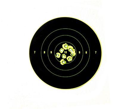 高精度の撮影と銃の精度を示すを表示するターゲットの弾痕