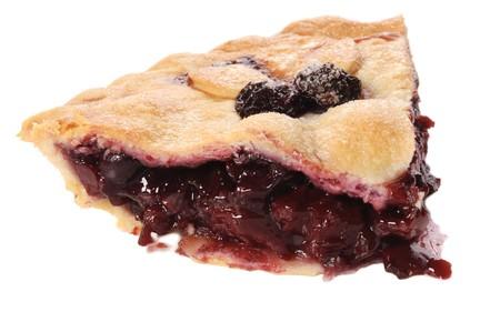 tourtes: Cherry pie sur un fond blanc Banque d'images