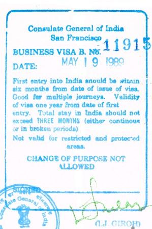 consulate: passport visa entry to india Stock Photo