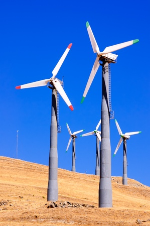 Alternate energy power source wind generator farm in California  photo