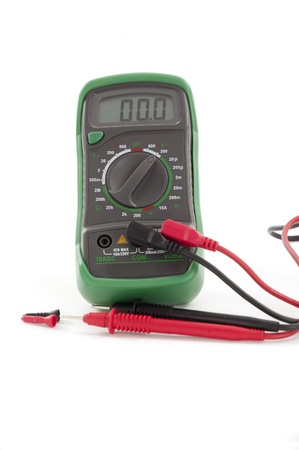 multimeter isolated on white Фото со стока