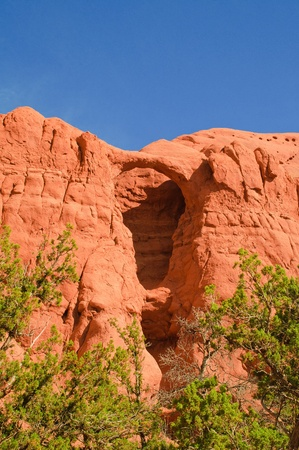 Natural arch on Kodachrome basin State park, Utah photo