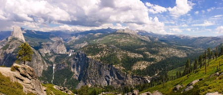 panorama of Yosmite national Park in California photo
