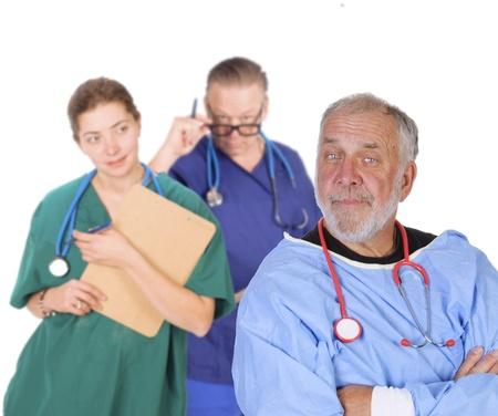 Group of doctors anfd nurses Stock fotó