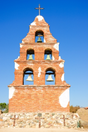 Belltower of San Migeul mission in California Stock Photo - 15322249