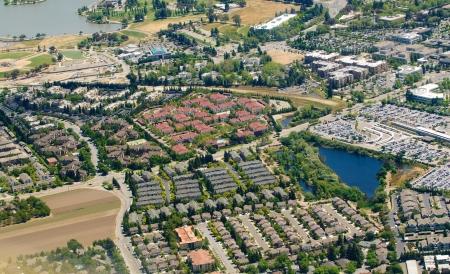 urban sprawl: aerial image of Urban Sprawl Stock Photo