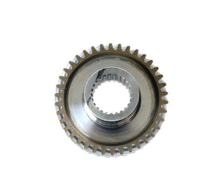 used automotive gears isolated on white photo