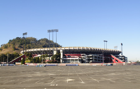 Historic Candlestick Park, home of the San Francisco 49ers football team, soon to be torn down as they have a new stadium being built 新聞圖片
