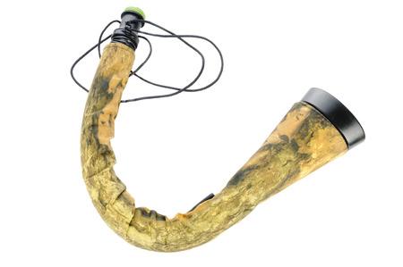 bugle: Elk bugle game call isolated on white
