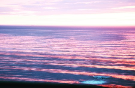 slow shutter seascape at sunset Stock Photo
