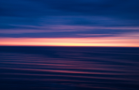 Purple and pink Apocalyptic ocean sunset
