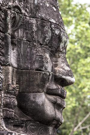 Bayon temple smiling buddha face Angkor Wat Siem Reap Cambodia South East Asia travel