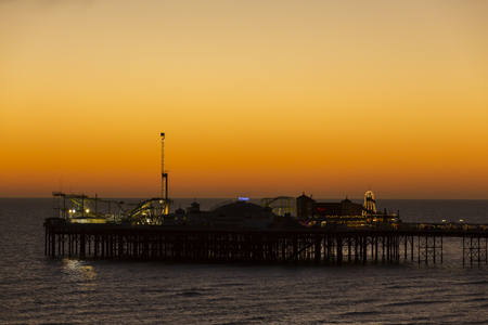 The Brighton Palace Pier, commonly known as Brighton Pier or the Palace Pier is a Grade II listed pleasure pier in Brighton, England, located in the city centre opposite the Old Steine. Editorial