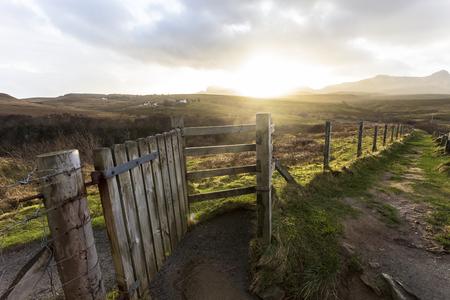 Picturesque near winter landscape in isle of skye northern scotland united kingdom europe.