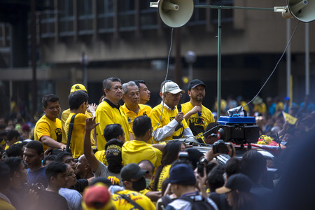 Kuala Lumpur, Wilayah Persekutuan Malaysia - November 19 2016: The Bersih 5 rally was a peaceful democratic protest in Malaysia, supported by the Coalition for Clean and Fair Elections (Bersih), which took place on 19 November 2016