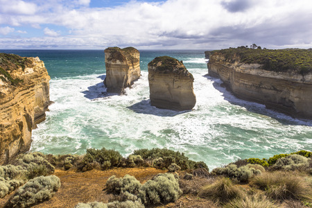 Loch Ard Gorge and Island Arch from Tom & Eva Lookout Australia Great Ocean Road and surroundings sea oceans and cliff