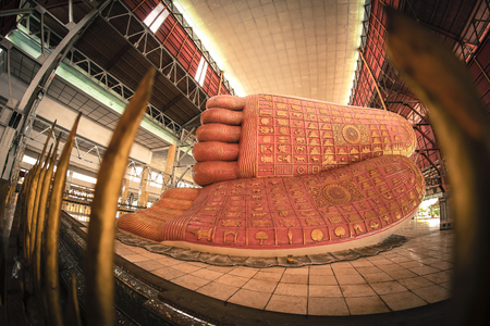 The little known Chaukhtatgyi Temple in Myanmar capital city Yangon has one of the biggest and most graceful Reclining Buddha statues in South East Asia