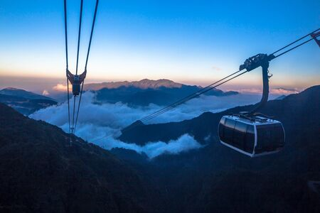 Cable car to the top of Mount Fansipan aka Roof of Indochina from the laid back town of Sapa