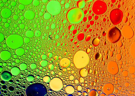 Oil and water with color background creating dreamy smooth diffraction Stock Photo
