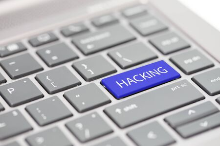 Cyber security hacking https MFA password phishing scam concept shown on close up enter key on notebook keyboard