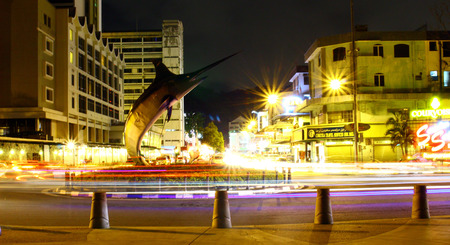 The beautiful merlin fish landmarks, Kota Kinabalu Waterfront.