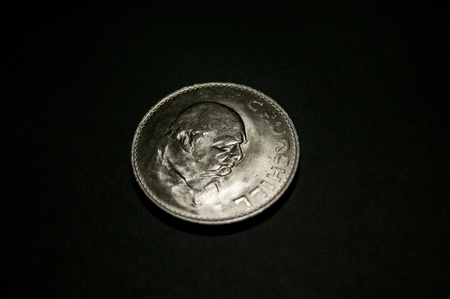 The Great Britain 1965 Winston Churchill crown was the first time a commoner was portrayed on a British coin  photo