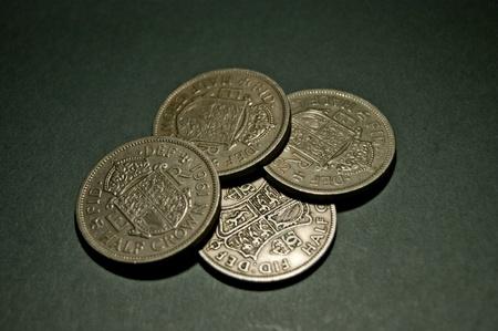 Four Half Crown Coins Stock Photo - 12663658