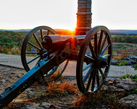 Sunset on Little Round Top