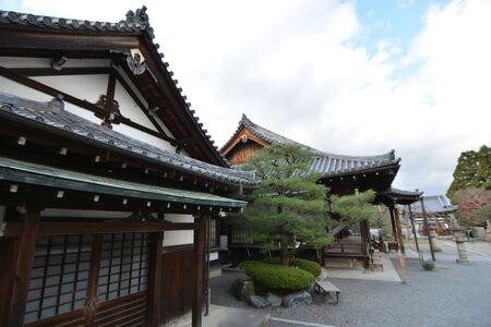Ancient Japanese Roof of Buildings in Rural Japan