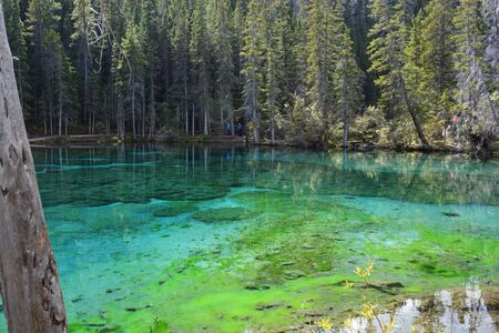 Grassi Lakes - Beautiful Green Water in Rocky Mountains